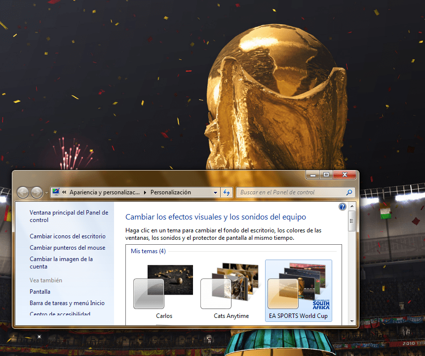 Tema Oficial Mundial 2010 Windows 7