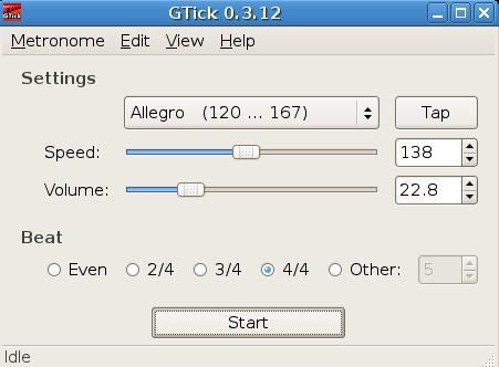 Gtick interfaz