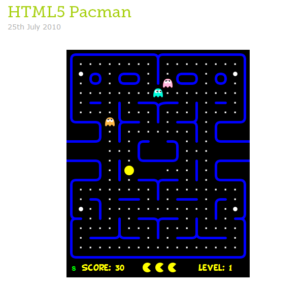 HTML 5 Pac-Man