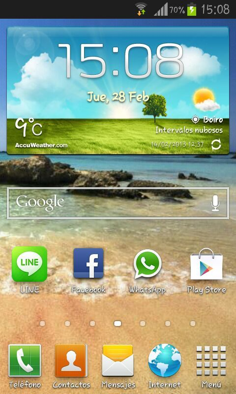 Capturar pantalla Galaxy S3 mini