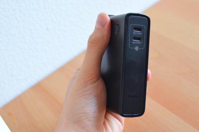 Cargador USB C y C Baseus