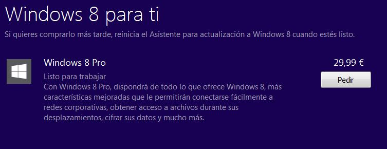 Comprar Windows 8