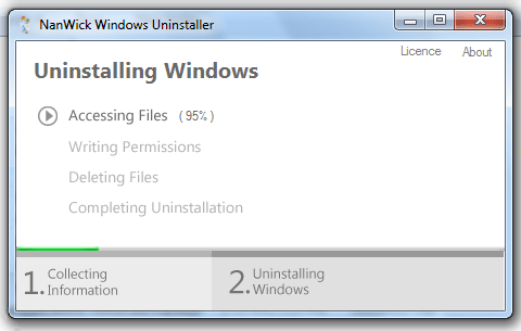 Desinstalar Windows