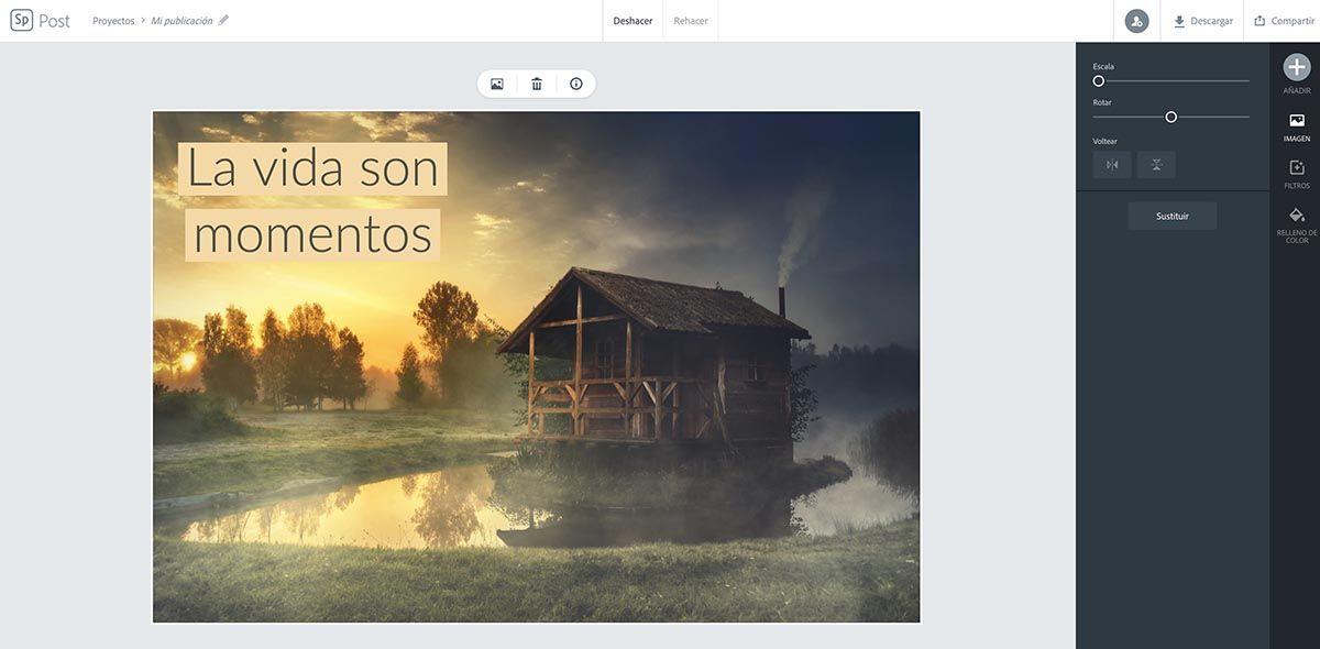 Editar Adobe Spark