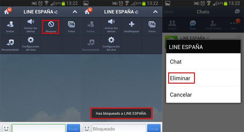 Eliminar Line España