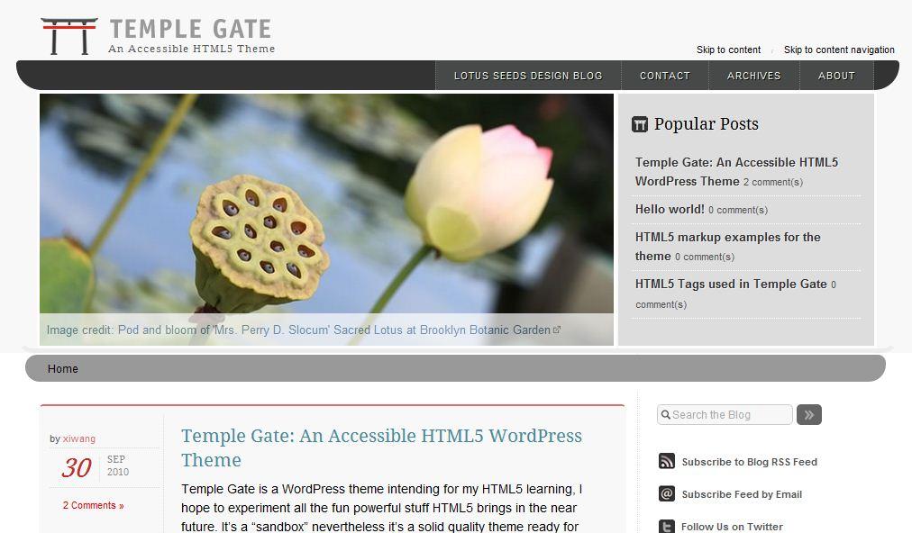 HTML5 theme