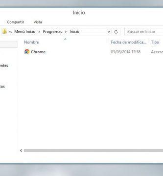 Menú de inicio en Windows 8.1