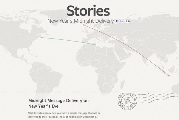 Mensajes de Año Nuevo por Facebook