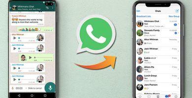 Pasar WhatsApp de Android a iPhone