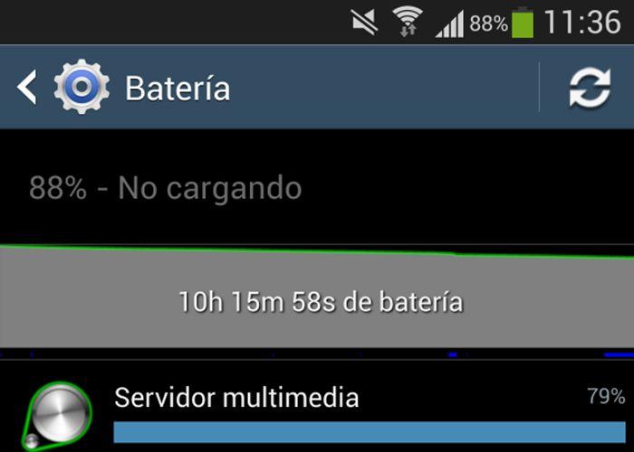 Problema servidor multimedia y batería en Android