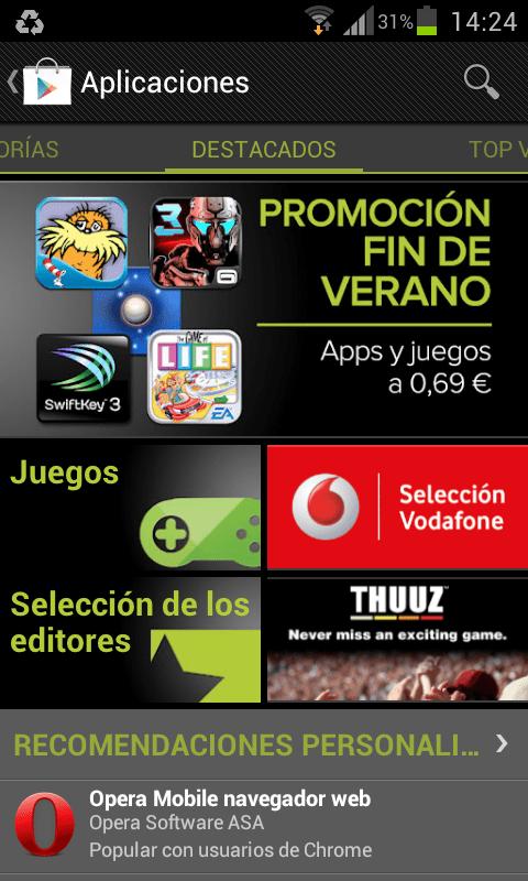 Promoción fin de verano Google Play