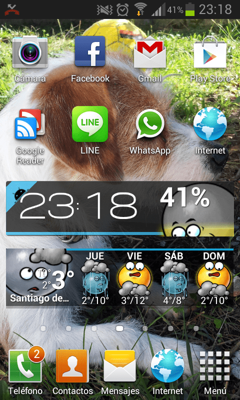 Galaxy S2 con Android 4.1.2
