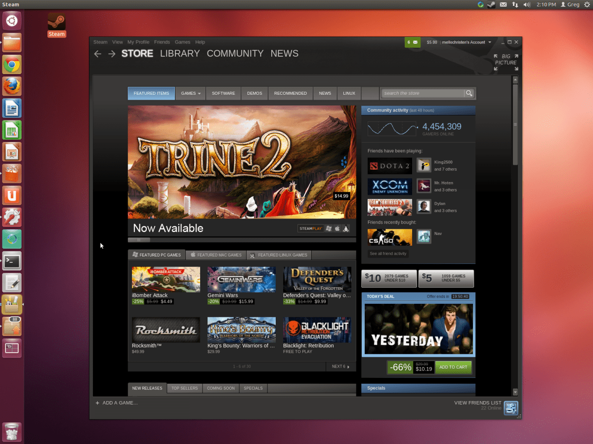 Steam final para Linux