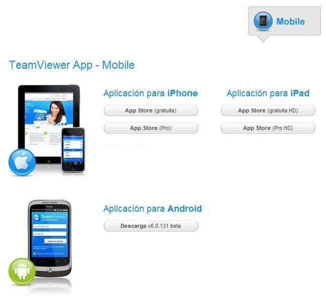 Team Viewer para Móvil