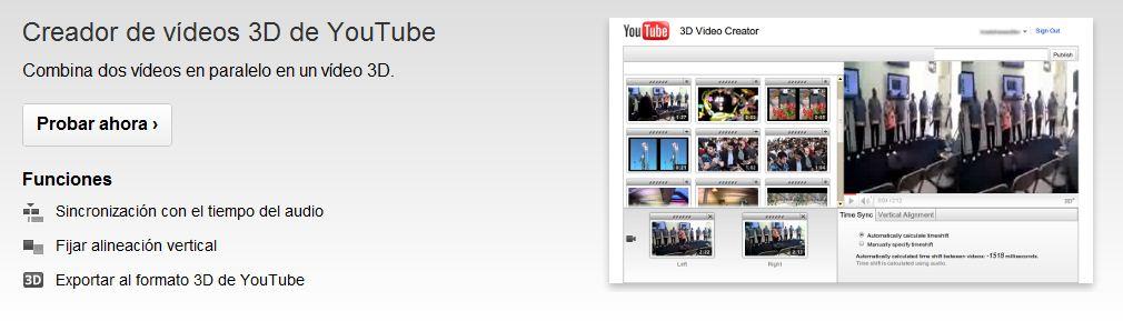 Videos en 3D YouTube