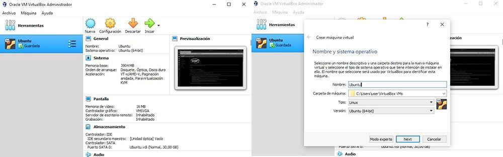cuadro 5 Ubuntu VirtualBox