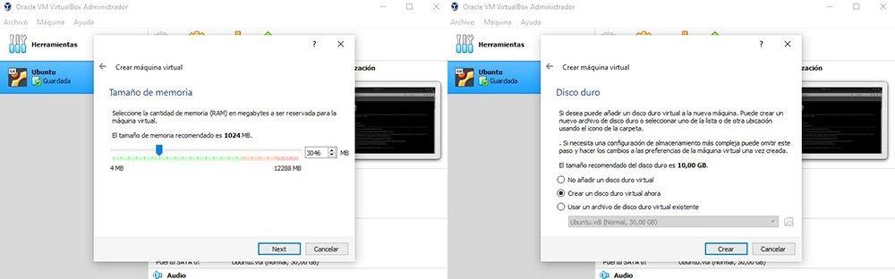 cuadro 6 instalar Ubuntu en Windows con VirtualBox