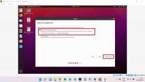 instalar ubuntu 21.04 en virtualbox instalar ubuntu borrar disco e instalar