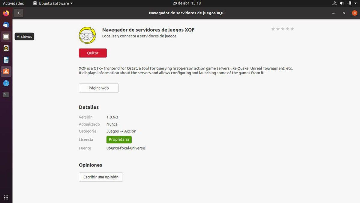 navegador xqf para Ubuntu