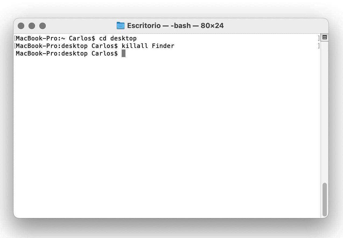 refrescar mac OSX
